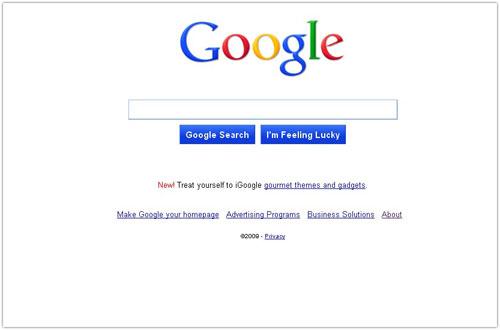 Google : Page d'accueil