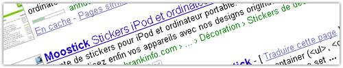 Google : Breadcrumb (fil d'Ariane)