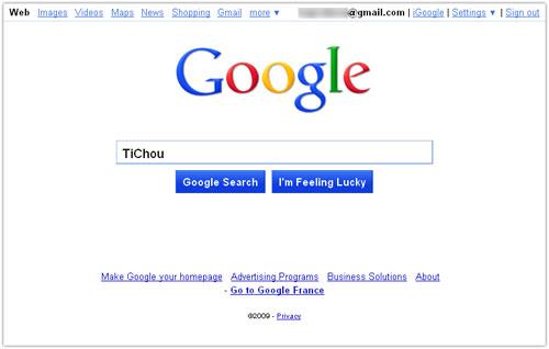 Google : Nouvelle interface - Accueil