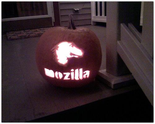 Mozilla Halloween Pumpkin