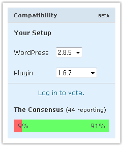 Wordpress : Plugin compatibility