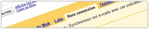 Gmail : Hors connexion
