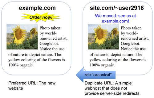 Google : Balise canonical cross-domain