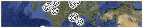 Google Maps : Sites classés au Patrimoine Mondial de l'UNESCO
