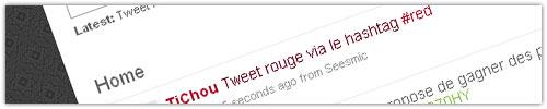 Twitter : Tweet rouge (#red)