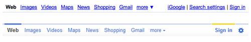 Google : Bandeau de couleurs