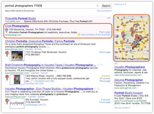 Google Boost : Annonce dans la page de résultats