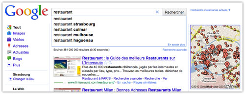 Google Suggest : Géolocalisation