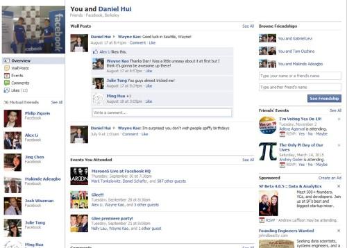Page Facebook amitiés