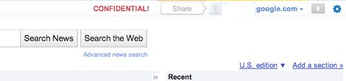 Google +1 la barre sociale de Google