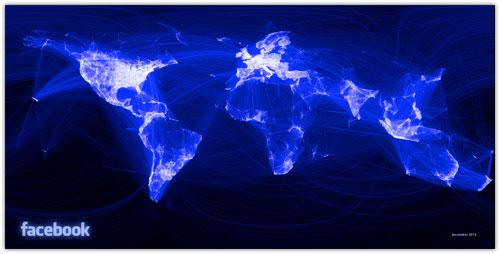 Facebook : Mappemonde des relations