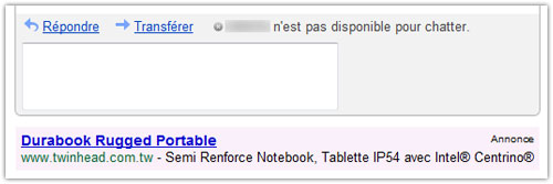 Gmail : Annonce AdWords