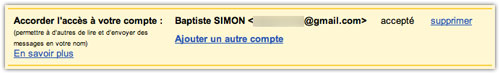 Gmail : Délégation de compte mail