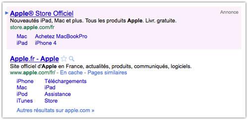 Google : Nouvelle annonce