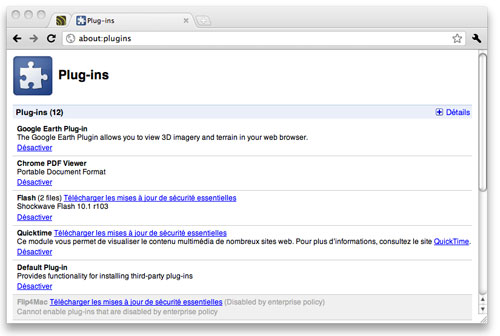 how to go to plugins on chrome