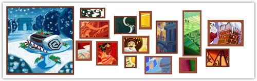 Doodle Google : Noël - Bûche