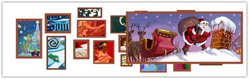 Doodle Google : Noël - Père Noël