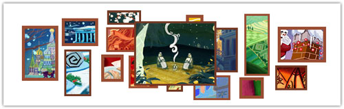Doodle Google : Noël - Scène