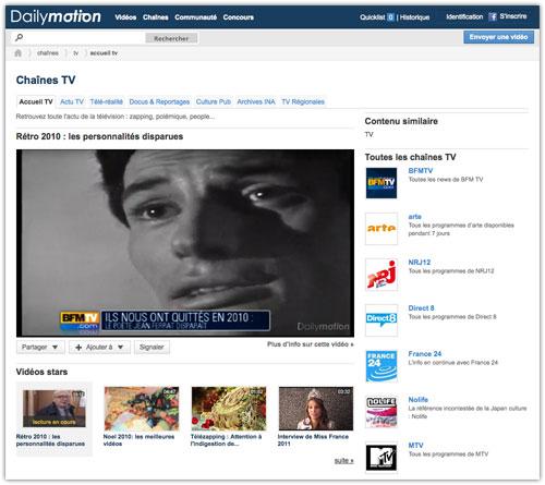 Dailymotion : Chaînes TV