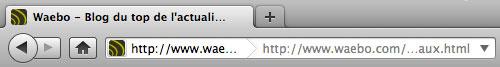 Firefox : URL dans la barre d'adresse