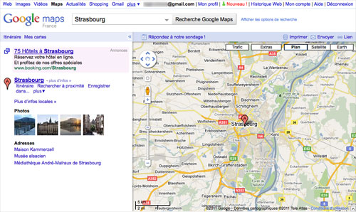 Google Maps : Ancienne carte
