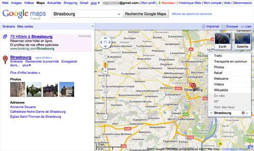 Google Maps : Nouvelle carte