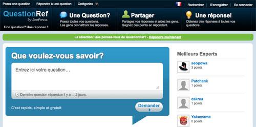 QuestionRef : Service de questions/réponses en référencement