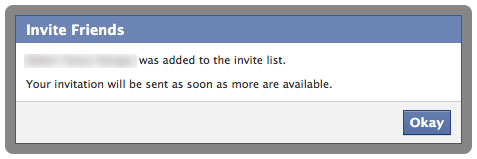 Facebook Messages : Liste d'invitation