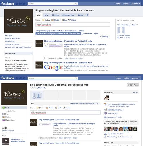 Facebook : Page Fans