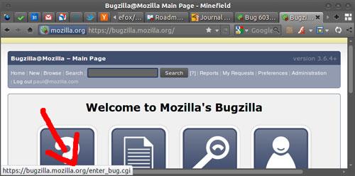 Firefox 4 : Barre de statuts flottante