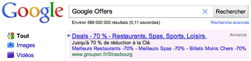Google Adwords : Offers Vs Groupon