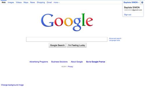 Google : Barre de navigation sociale