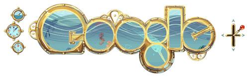 Google : Doodle Jules Verne