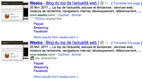 Google Social Search - Twitter