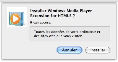 WMP HTML5 pour Chrome