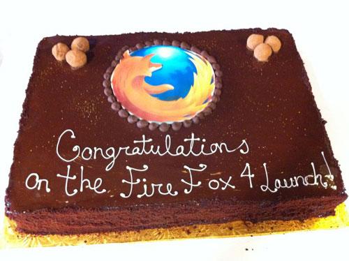 Firefox 4 : Gâteau
