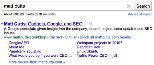 Google : Bloquer les résultats de site