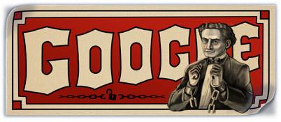 Google : Doodle Harry Houdini