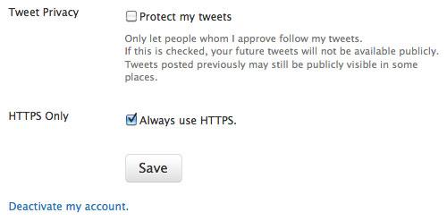 Twitter : Protocole HTTPS