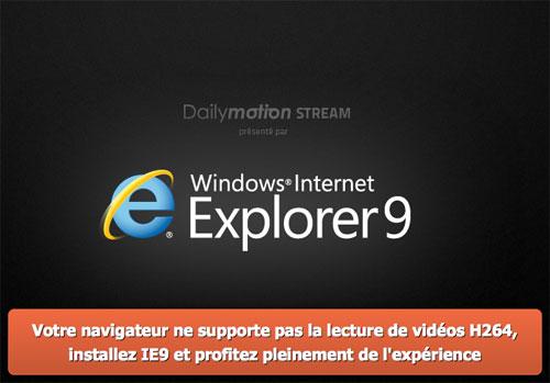 Dailymotion Stream : Vidéos H.264