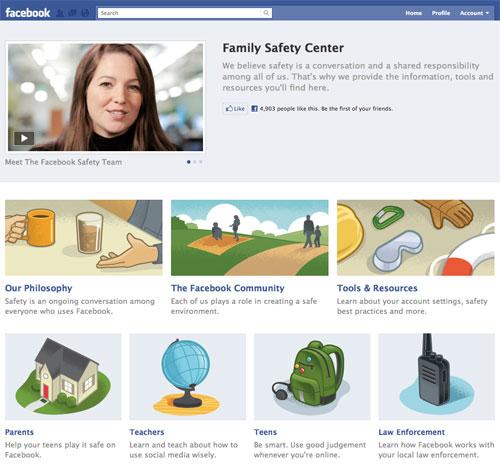 Facebook : Centre de sécurité familial