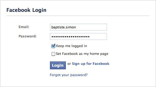 Facebook : Définir comme page d'accueil de navigateur