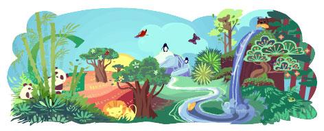 Google : Doodle pour le Jour de la Terre