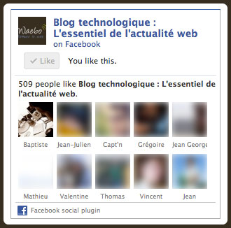 Facebook : Nouvelle Like Box