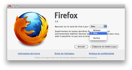 Firefox : Canal de développement