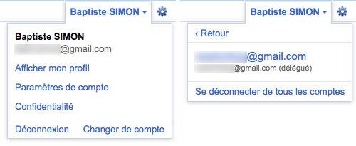 Gmail : Délégation de compte