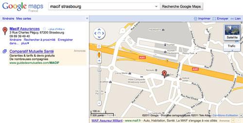 Google AdWords : Annonces dans Google Maps