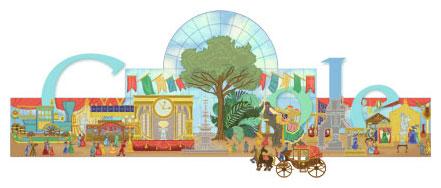 Google : Doodle du 160ème anniversaire de l'exposition universelle