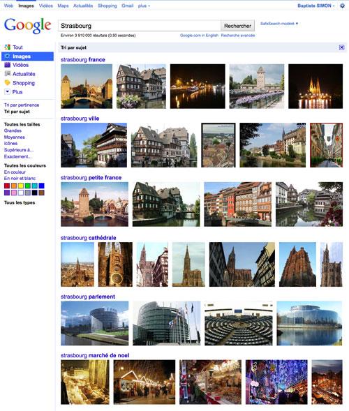 Google Images : Tri par sujet