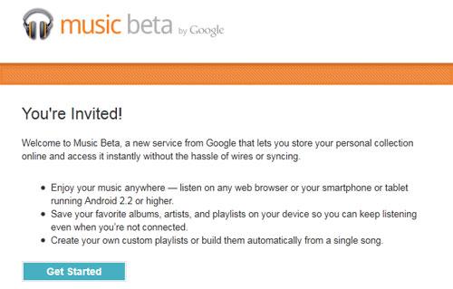 Google Music Beta : Invitation